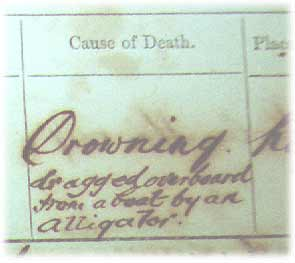 First Death Registered in the Northern Territory cause