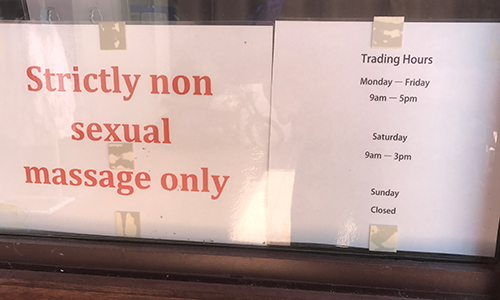 Strictly non sexual massage only