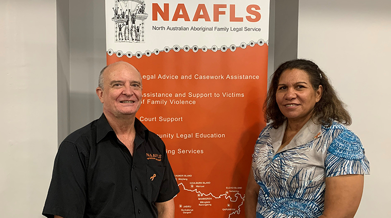Leanne Liddle with Chief Executive Officer of NAAFLS David Alexander.