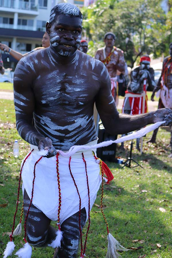 One Mob dancer from Darwin Correctional Centre.