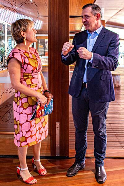 Deborah Di Natale and Chief Minister Michael Gunner.